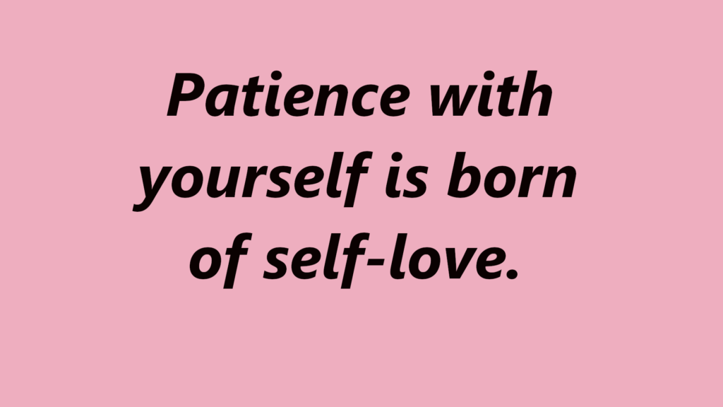 how to learn to have patience