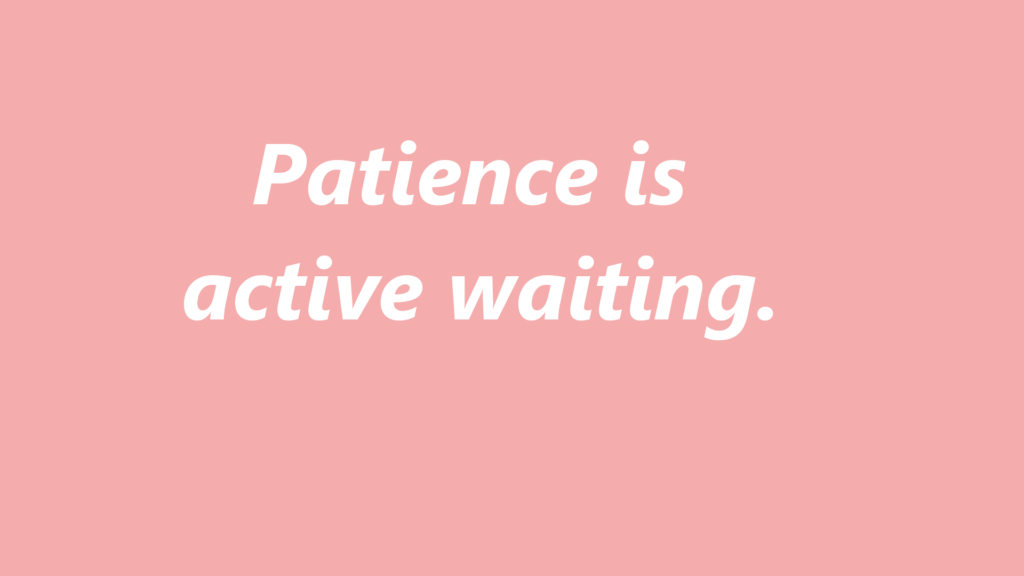 patience meaning