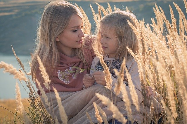 highly sensitive mum with her daughter